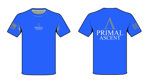 PA Blue TShirt w Flag - Front Middle